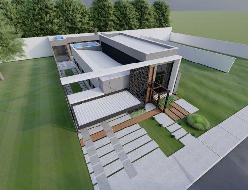 Residência térrea de alto padrão com 184m² de área construída